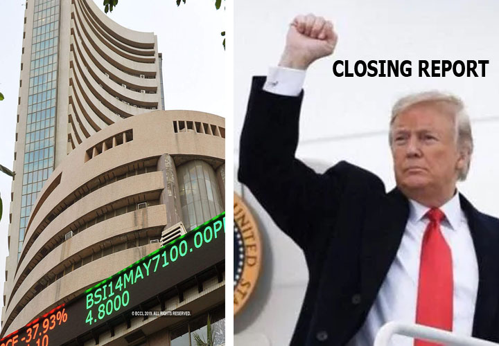 The Sensex was up 428 points or 1.05% at 41009.71,