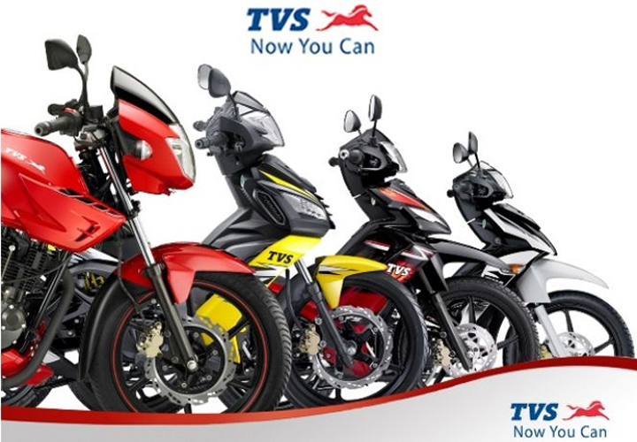 TVS Motor domestic two-wheeler sales drops 27%, total exports rise 25%