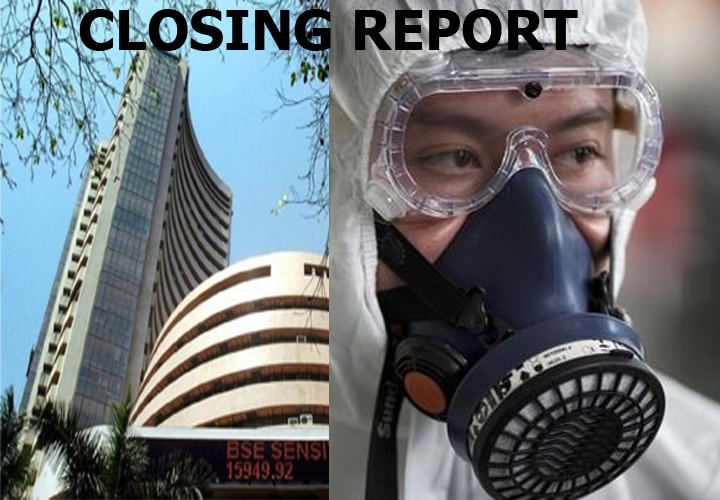 Closing Bell: Nifty ends Jan series below 12,100, Sensex falls 284 pts