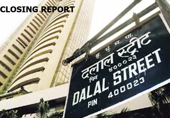 The Sensex shed 190.33 points at 40723.49