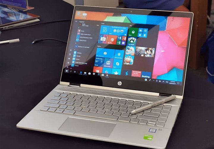 HP Pavilion X 360 laptop with alexa facility