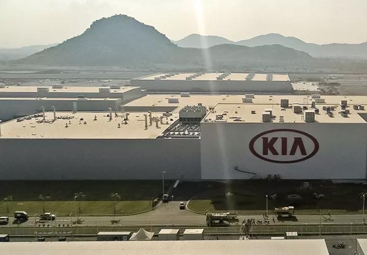 Kia Motors plant opened in Andhra Pradesh