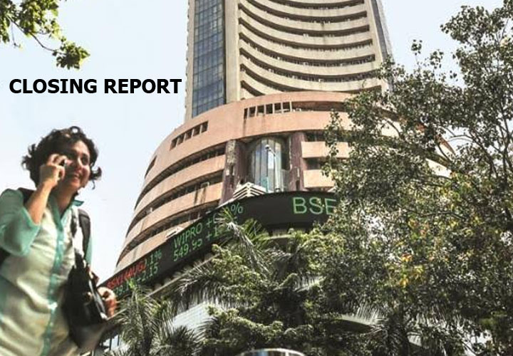 The Sensex ended 92.94 points higher at 41,952.63