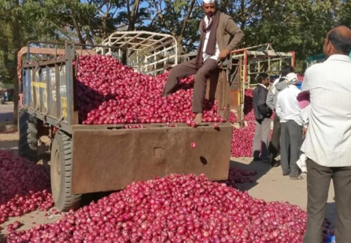 Onion prices are down by forty rupees 60 in two days