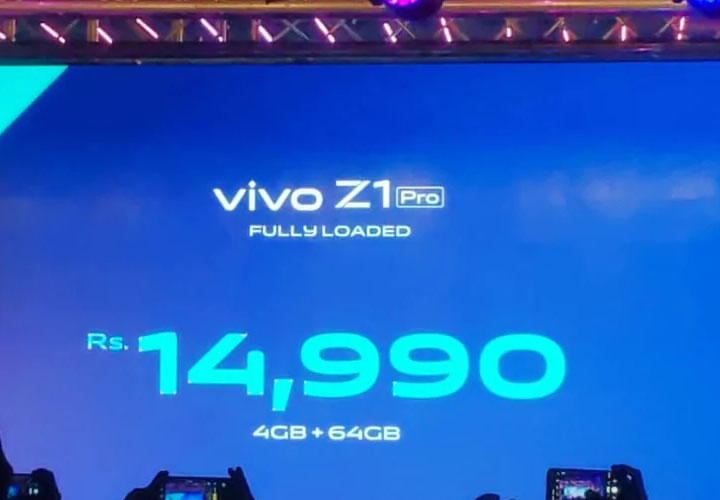 Vivo Z1 Pro With In-Display Camera Launched in India, Price Starts at Rs. 14,990: