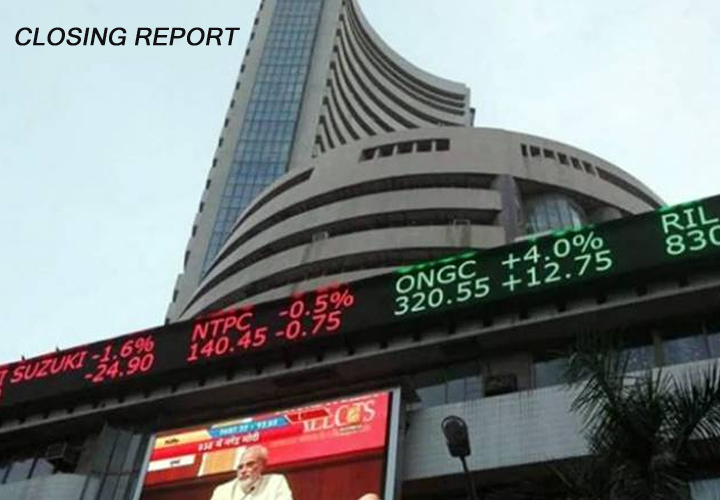 Sensex rebounds 282 points, Nifty ends above 12,850