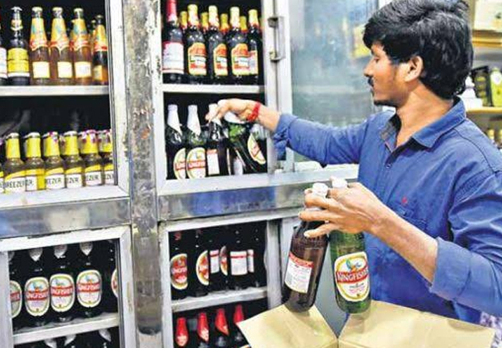 Christmas, New Year and Celebration The sale of liquor amounted to Rs 522.93 crore