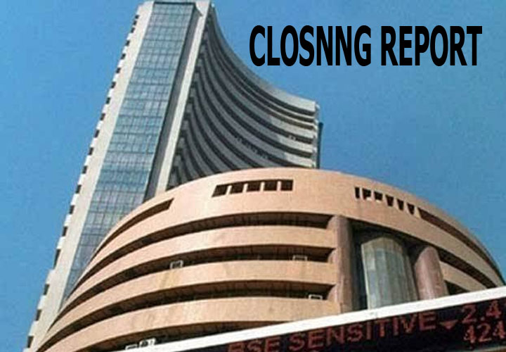 Sensex closed lower by 38.44 points or 0.10 percent at 39020.39