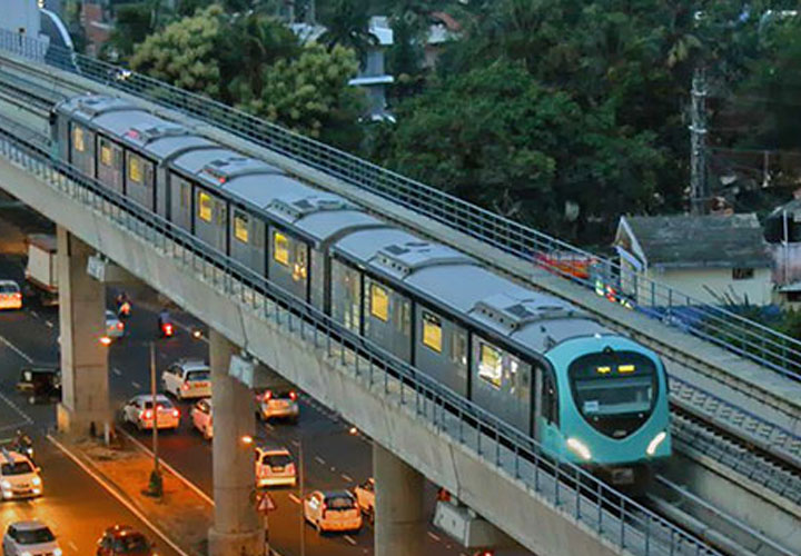 Kochi metro hits record
