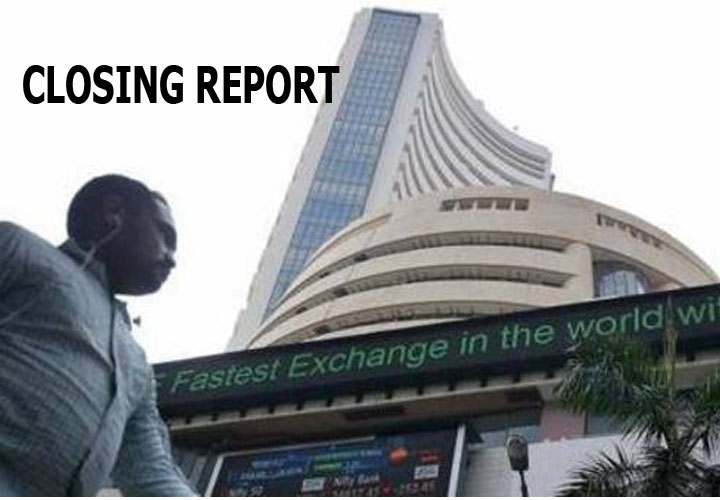 he Sensex was down 70.70 points at 40,779.59