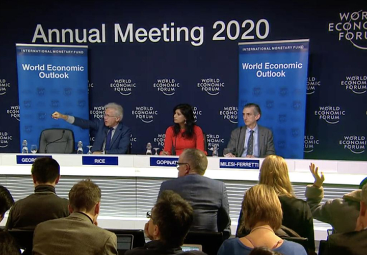 IMF cuts global growth forecast ahead of Davos