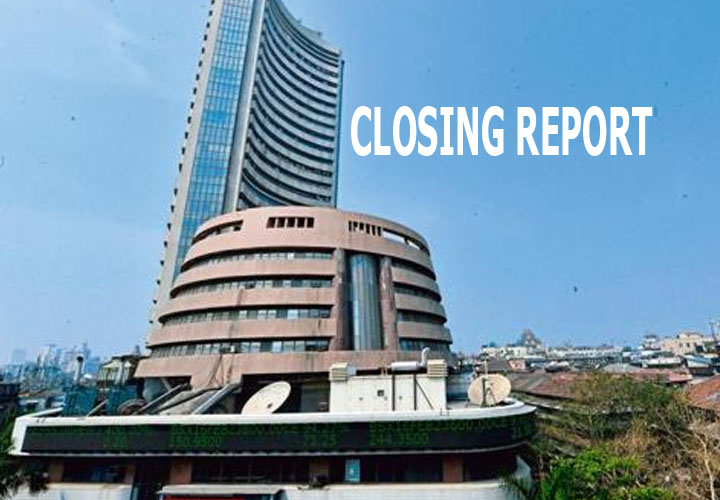Sensex ended with gains of 221.55 points