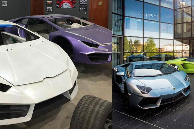 Duplicate lamborghini car for 41 lakhs: two under arrest