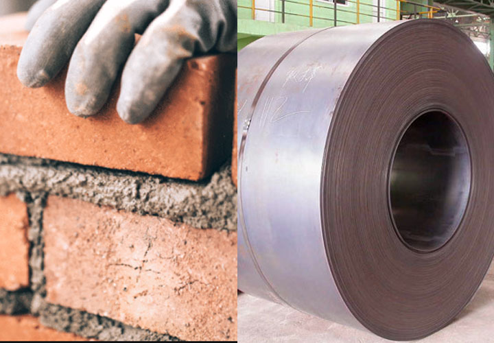 Weak economy: loss  on the cement-steel market